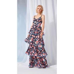 NEW Foxiedox Darlene Maxi Tiered Floral Dress